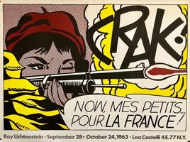 Roy Lichtenstein, 'Vintage Offset Lithograph 'CRAK' Roy Lichtenstein Pop Art Castelli Poster', 20th Century