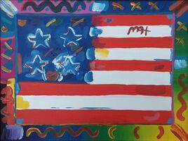 Peter Max, 'American Flag', 2004