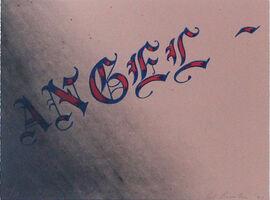 Ed Ruscha, 'Angel', 1991