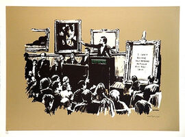 Banksy, 'Sepia Morons (Signed)', 2006