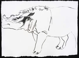 Andy Warhol, 'Vanishing Animals - Sumatras Rhinoceros', 1986