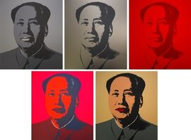 Sunday B. Morning, 'After Andy Warhol, Mao Portfolio of 5', 1970-2015