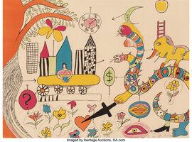 Niki de Saint Phalle, 'Rêve d'une jeune fille', c. 1970
