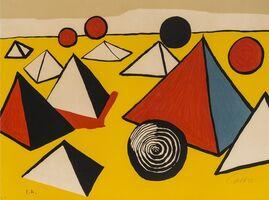 Alexander Calder, 'Pyramids and Circles', circa 1975