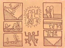 Keith Haring, 'UNTITLED ('BLUEPRINT' JAN 15, 1981)', 1981