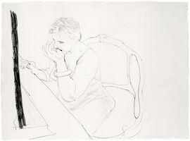 David Hockney, 'Celia Adjusting her Eyelash', 1979