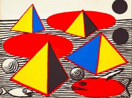 Alexander Calder, 'Fish and Pyramids', 1976