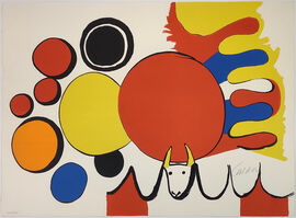 Alexander Calder, 'TAUREAU AVEC SPIRALE ROUGE', 1975