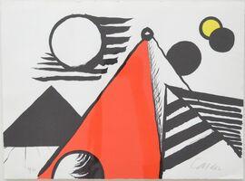 Alexander Calder, 'Pyramid Rouge', 1969