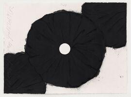 Donald Sultan, 'Black Poppies Jan 16 2019', 2019