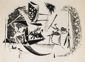 Pablo Picasso, 'Corrida Au Soleil Noir (Black Sun Bullfight), 1949 Limited edition Lithograph by Pablo Picasso', 1949
