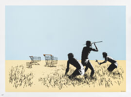 Banksy, 'Trolleys (Colour)', 2007