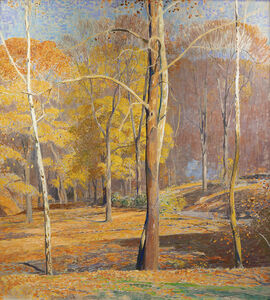 Daniel Garber, 'Burning Leaves', ca. 1940s