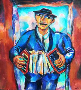 Luis Castellanos Valui, 'El acordionista con Sombrero Azul'