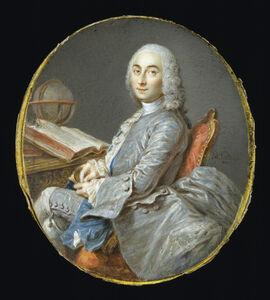 Jean-Marc Nattier, 'Miniature Portrait of César François Cassini de Thury', ca. 1750
