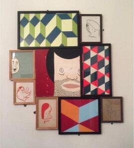 Barry McGee, 'Untitled (9 panels)', 2008