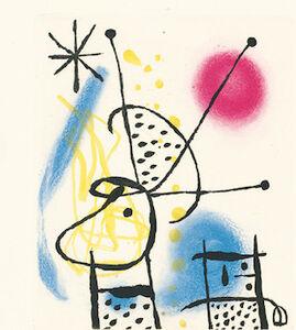 Joan Miró, 'Suite La Bague D'Aurore - plate 5', 1957