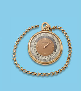 """Patek Philippe, 'Pink gold """"Wold Time"""" pocket watch', ca. 1940"""