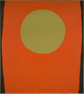 Walter Darby Bannard, 'Orange Blacksides', 1959