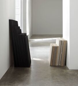 Claude Rutault, 'de-finition/method. obstacles and defenses, theme 53 of 'from stack to stack'', 1989-1990