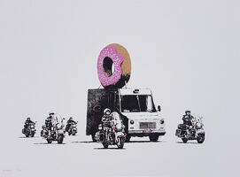 Banksy, 'Donuts Strawberry', 2009