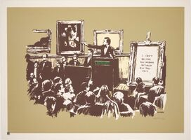 Banksy, 'Morons (Sepia)', 2007