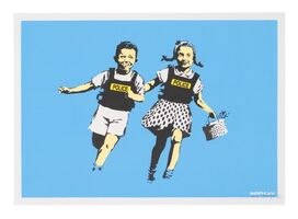 Banksy, 'Police Kids (Blue)', 2005