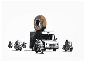 Banksy, 'Donuts (Chocolate) ', 2009