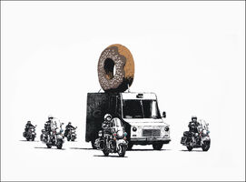 Banksy, 'Chocolate Donuts', 2009