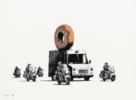 Banksy, 'Donuts Chocolate', 2009