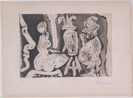 Pablo Picasso, 'Peintre et modèle avec spectateur ', 1965