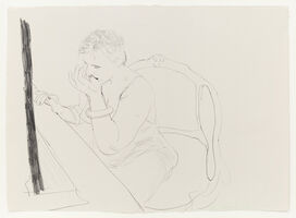 David Hockney, 'Celia - Adjusting her Eyelash', 1979
