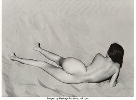 Edward Weston, 'Nude on Sand, Oceano', 1936-printed later