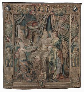 Matthias Withoos, 'Cleopatra Dies at the Tomb of Antony; Tapestry', 17th century