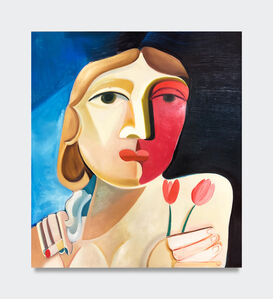 Danielle Orchard, 'Head with Tulips', 2019