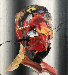 Frans Smit, 'Reflection on Grey Stripes', 2017