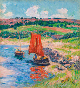 Henry Moret, 'The Red Sail', 1909