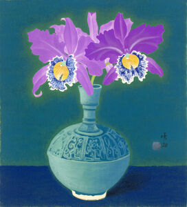 Kuo Hsueh-Hu 郭雪湖, 'Tropical Orchids', 1938