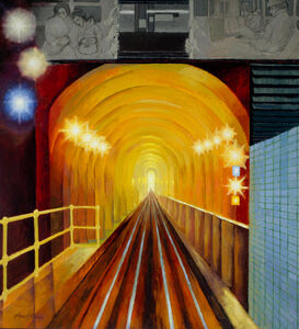 August Mosca, 'Subway in Glowing Colors', 1946