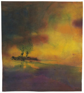 Emil Nolde, 'Meer mit Dampfer', ca. 1945