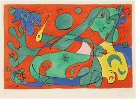 Joan Miró, 'Ubu Roi: Plate X', 1966