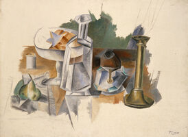 Pablo Picasso, 'Carafe and Candlestick', 1909