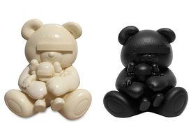 KAWS, 'Undercover Bear Set (White and Black)', 2009