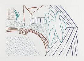 David Hockney, 'My Pool and Terrace, from Eight by Eight to Celebrate the Temporary Contemporary (not in M.C.A.T.)', 1983