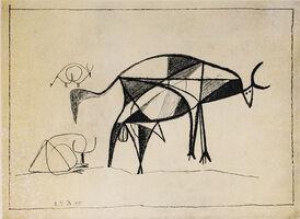 Pablo Picasso, 'Taureau De Profil (Bull Profile), 1949 Limited edition Lithogrph by Pablo Picasso', 1949