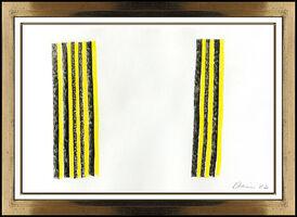 Gene Davis, 'Gene Davis Original Color Field Ink Drawing Vertical Stripe Signed Modern Art', 1982