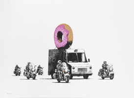 Banksy, 'Donuts (Strawberry)', 2009