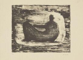 Henry Moore, 'Black Reclining Figure II', 1974
