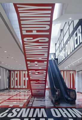 Barbara Kruger: Belief+Doubt, installation view