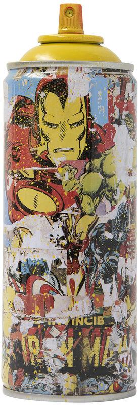 Mr. Brainwash, 'Marvel Spray Can: Iron Man', 2019, Sculpture, Spray paint on streel spray can, Taglialatella Galleries